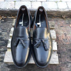 Allen Edmonds Black Leather Tassel Loafers